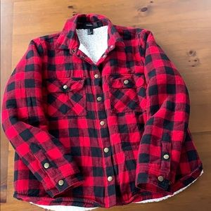 Button down flannel jacket